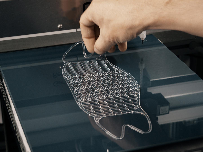 3D Drucker - LiQ320 Bauteil Entnahme